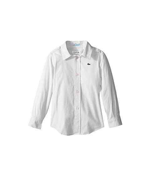 Lacoste Kids Long Sleeve Oxford Woven Shirt (Little Kids/Big Kids)