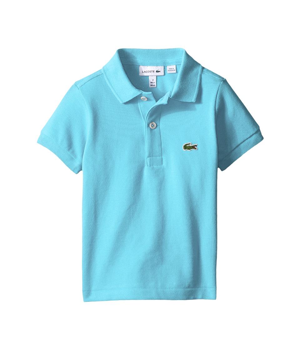 Lacoste Kids - Short Sleeve Classic Pique Polo Shirt (Toddler/Little Kids/Big Kids) (Azurine Blue) Boy