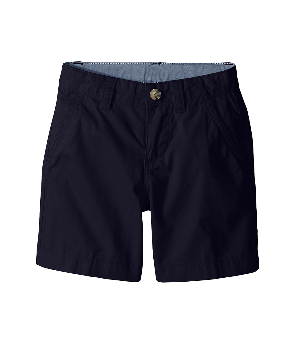 Lacoste Kids Cotton Gabardine Bermuda Short Little Kids/Big Kids Navy Blue Boys Shorts