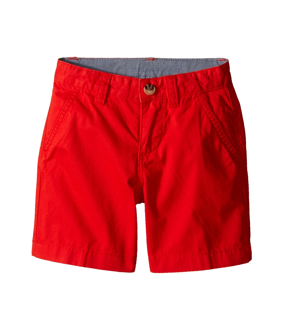Lacoste Kids Cotton Gabardine Bermuda Short Little Kids/Big Kids Lust Red Boys Shorts