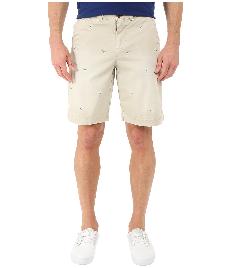 True Grit Martini Shorts w/ Vintage Wash and Stitch Details Stone Mens Shorts