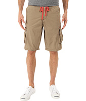 True Grit - Rock Point Drawstring Cargo Shorts w/ Knit Waistband