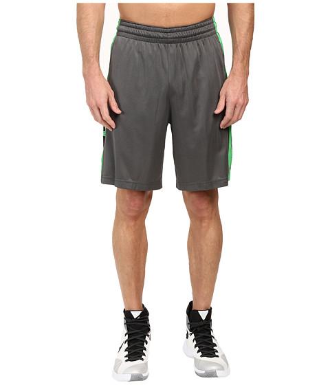 Nike Elite Stripe Short - Charcoal Heather/Metallic Silver