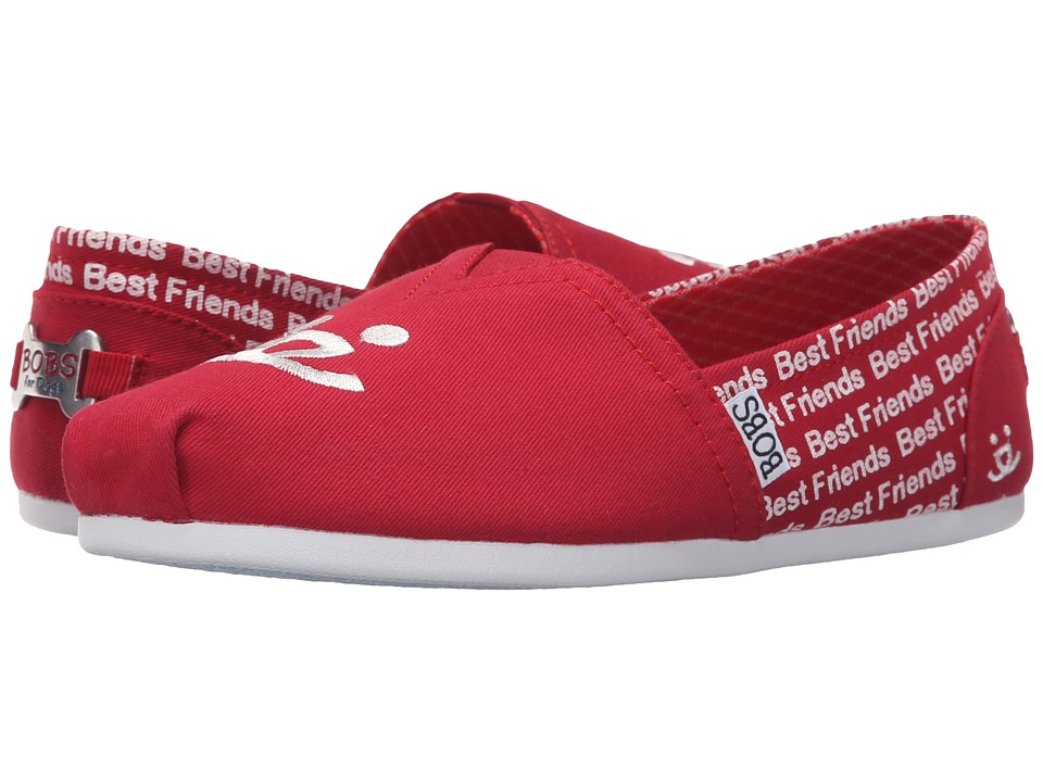 BOBS from SKECHERS Bobs Plush Best Friends Red Womens Slip on Shoes