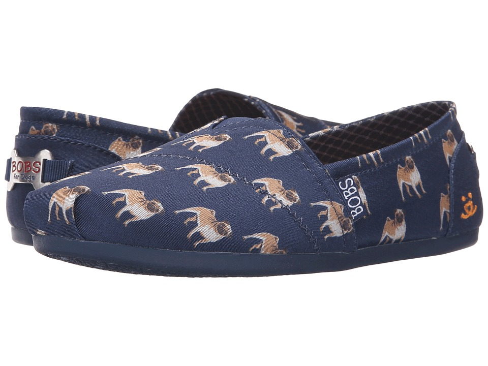 BOBS from SKECHERS Bobs Plush Puggin Around Navy Womens Slip on Shoes