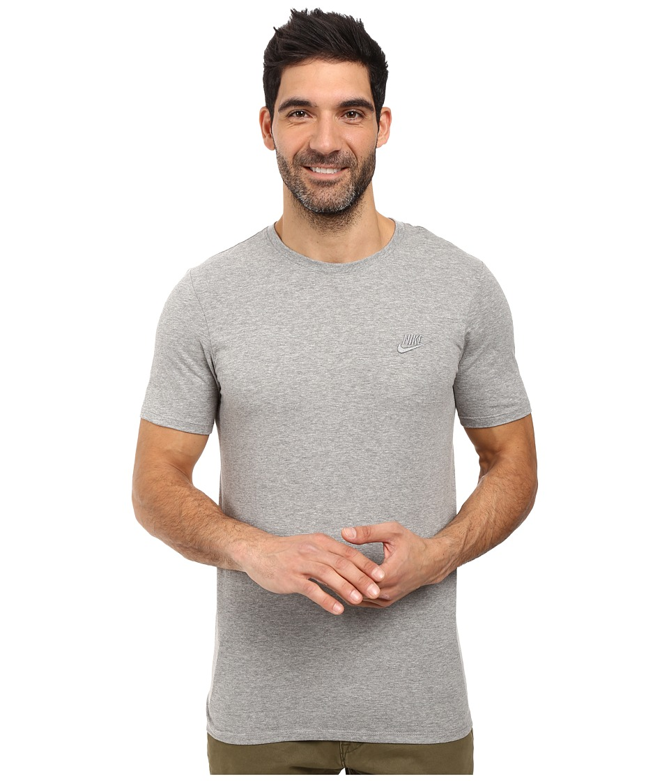 Nike Core Embroidered Futura Tee (Dark Grey Heather/Cool Grey) Men