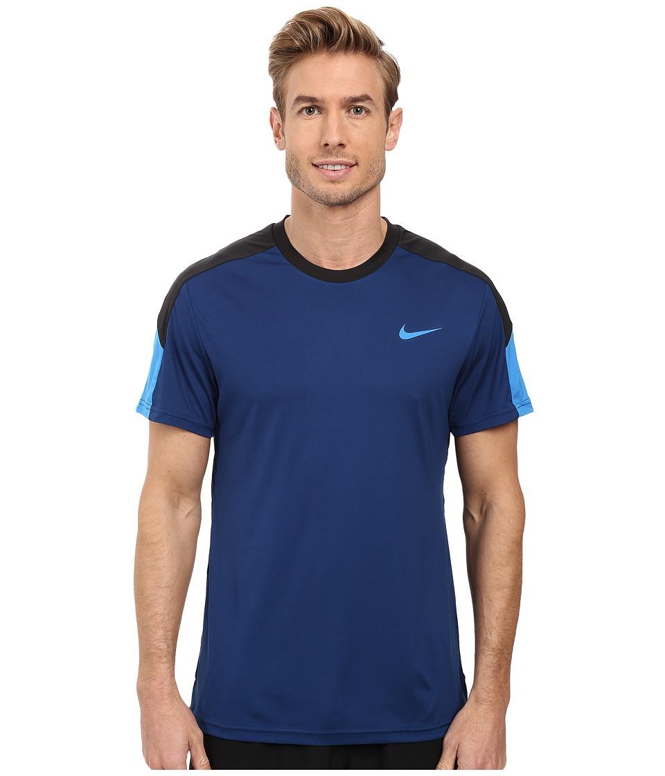 Nike Court Tennis Shirt (Coastal Blue/Black/Light Photo Blue) Men