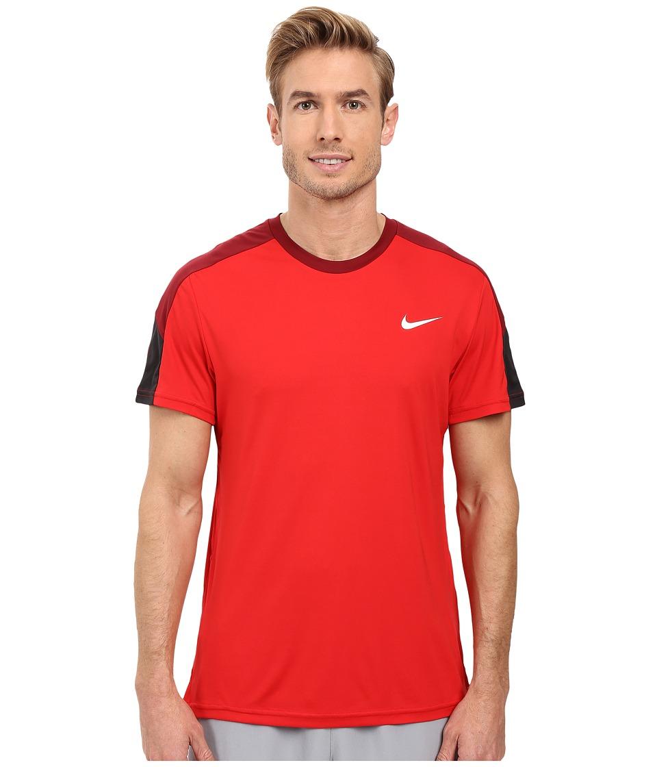 Nike Court Tennis Shirt (University Red/Team Red/White/White) Men