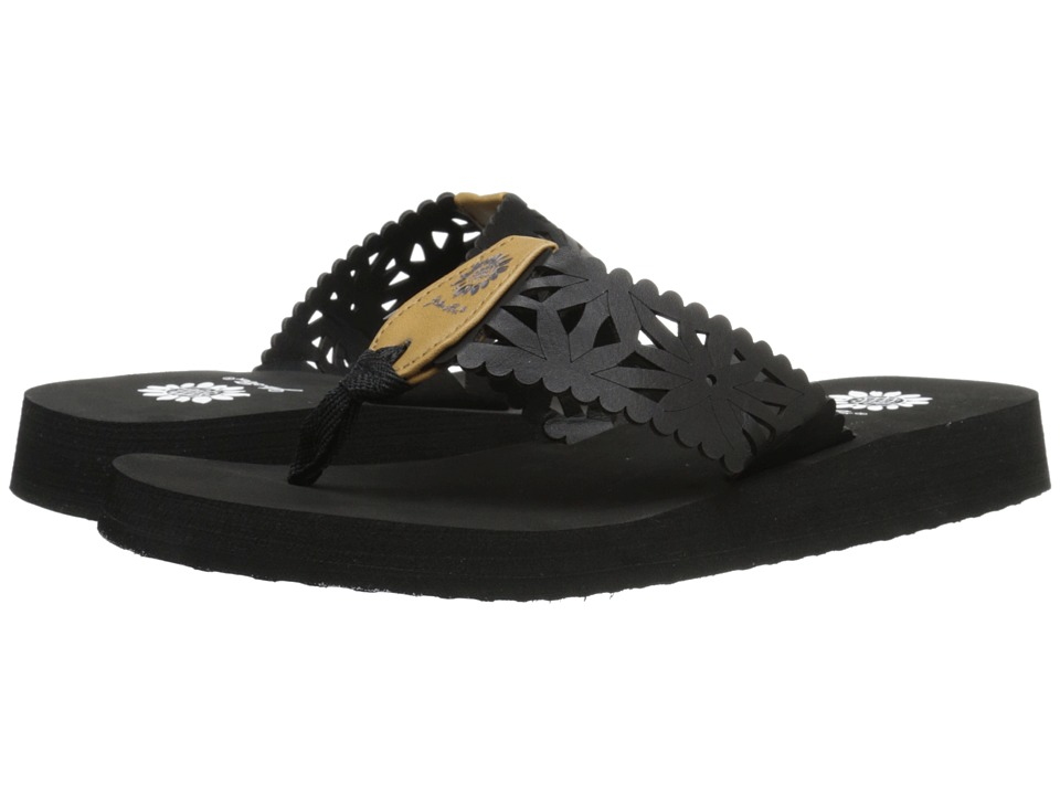 Yellow Box Wiley Black Womens Sandals