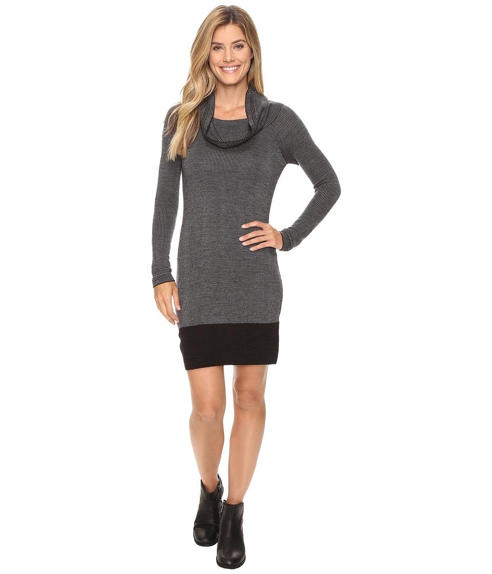 Toad&Co Uptown Sweater Dress (Black Heather) Women