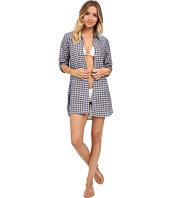 Tommy Bahama - Gingham Boyfriend Shirt Cover-Up