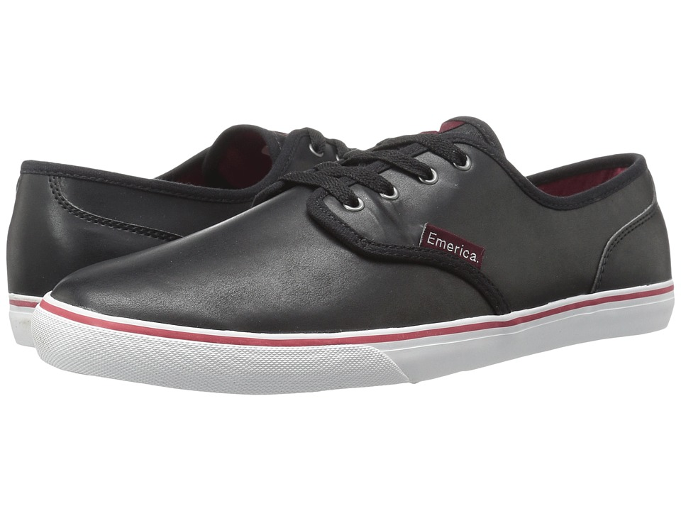 Emerica Wino Cruiser (Black/White/Burgundy) Men