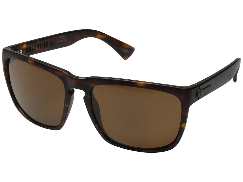 Electric Eyewear - Knoxville XL Polarized (Matte Tort/Melanin Level 1 Bronze Polar) Sport Sunglasses