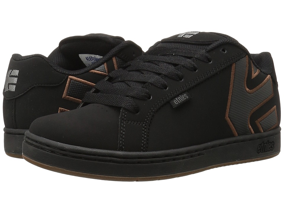 etnies - Fader (Black/Silver/Gum) Mens Skate Shoes