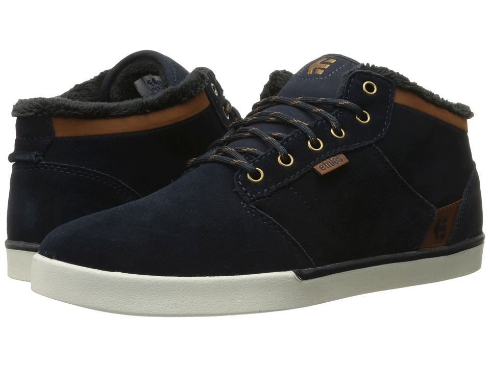 etnies Jefferson Mid (Navy/Brown/White) Men