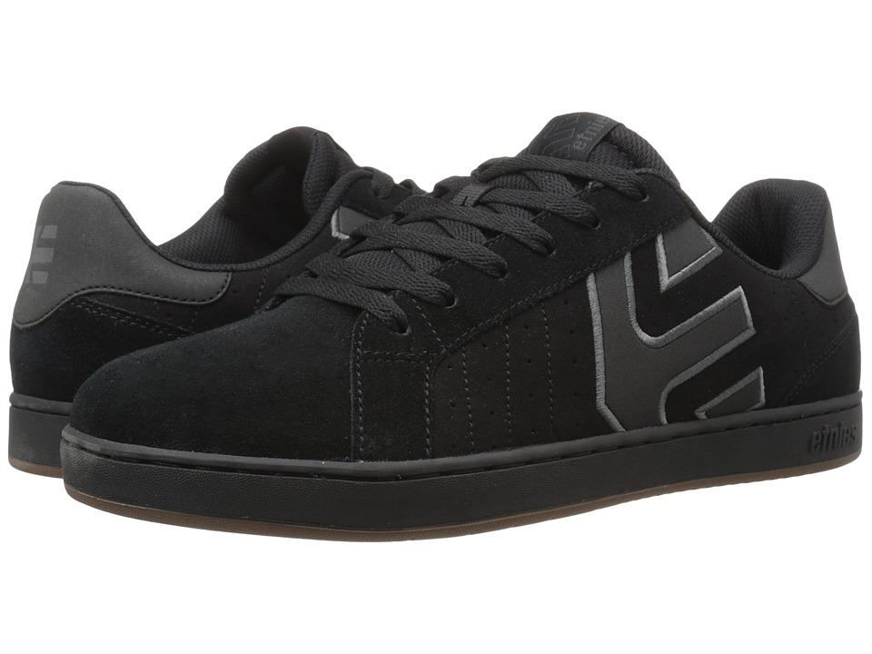 etnies - Fader LS (Black/Charcoal/Gum) Mens Skate Shoes