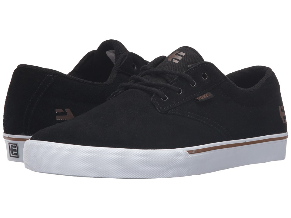 etnies - Jameson Vulc (Black/White/Gum) Mens Skate Shoes