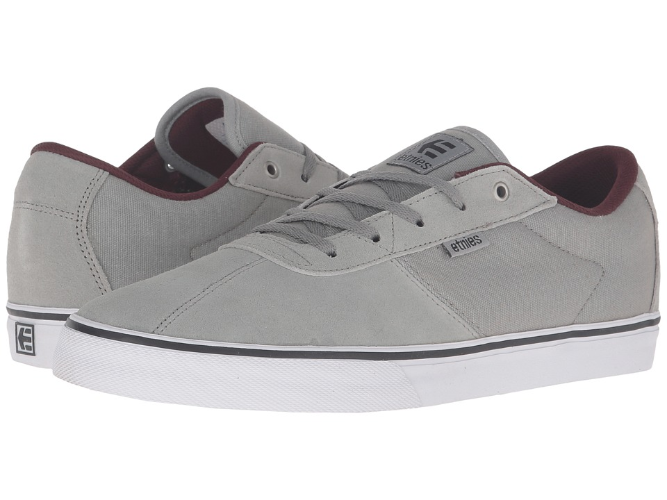etnies - Scam Vulc (Grey/Burgundy) Men