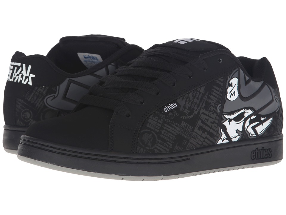 etnies - Fader x Metal Mulisha (Black/Skulls) Mens Skate Shoes