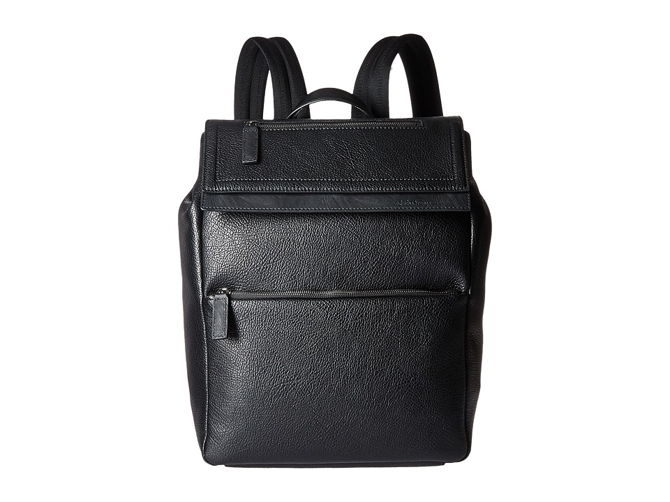 Salvatore Ferragamo - Free Time Backpack - 240186 (Black) Backpack Bags