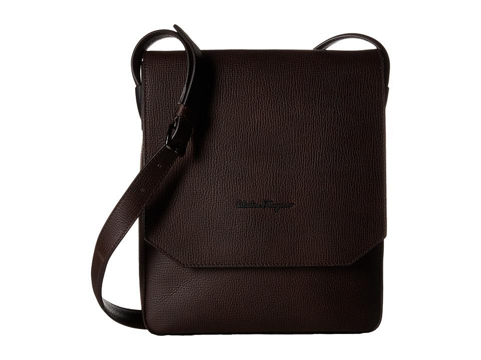 Salvatore Ferragamo - Icaro Shoulder Bag - 240196 (Marrone) Messenger Bags