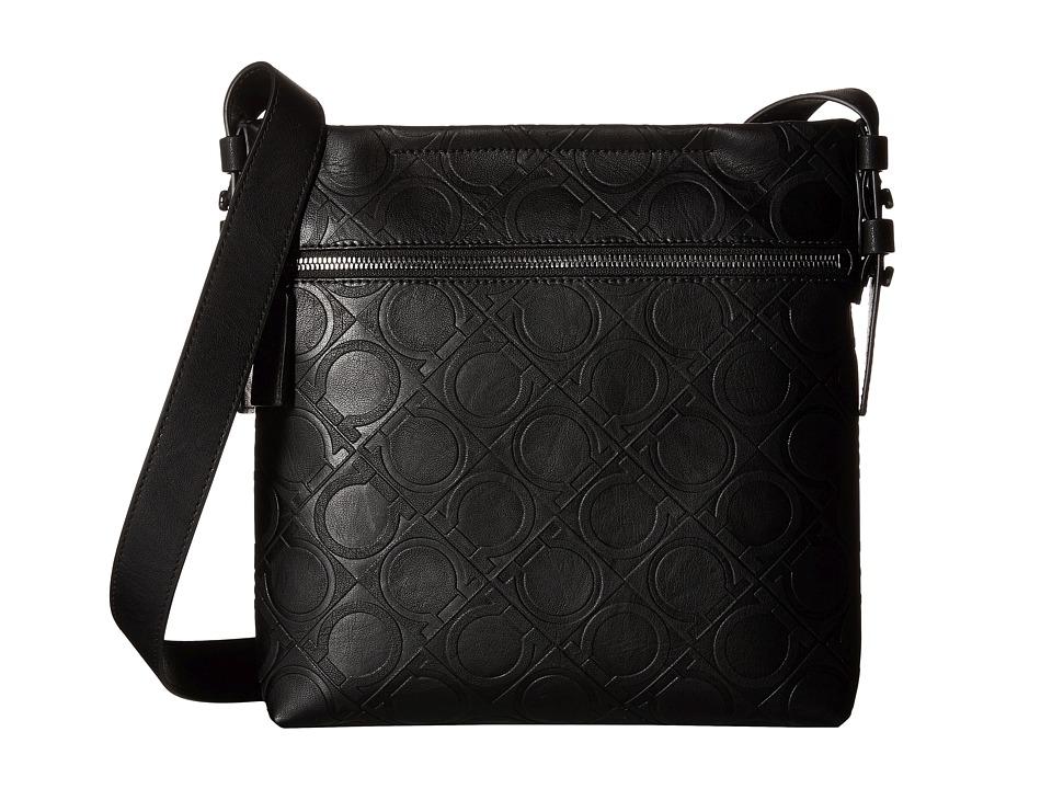 Salvatore Ferragamo - Gancio Four Shoulder Bag - 240173 (Black) Messenger Bags