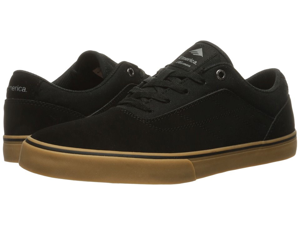 Emerica - The Herman G6 Vulc (Black/Black/Gum) Mens Skate Shoes