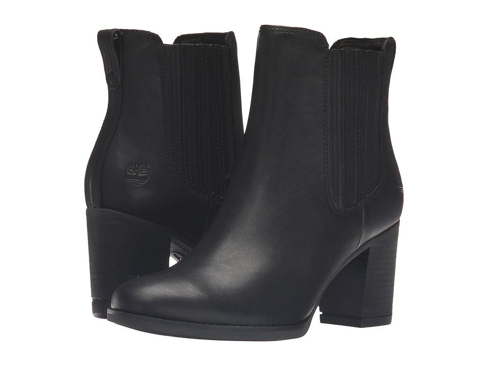 Timberland Atlantic Heights Covered Gore Chelsea Boot (Black Full Grain) Women