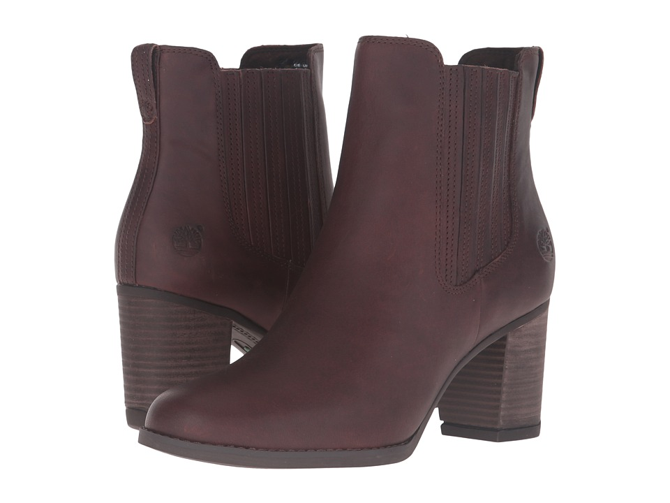 Timberland - Atlantic Heights Covered Gore Chelsea Boot (Dark Brown Full Grain) Women