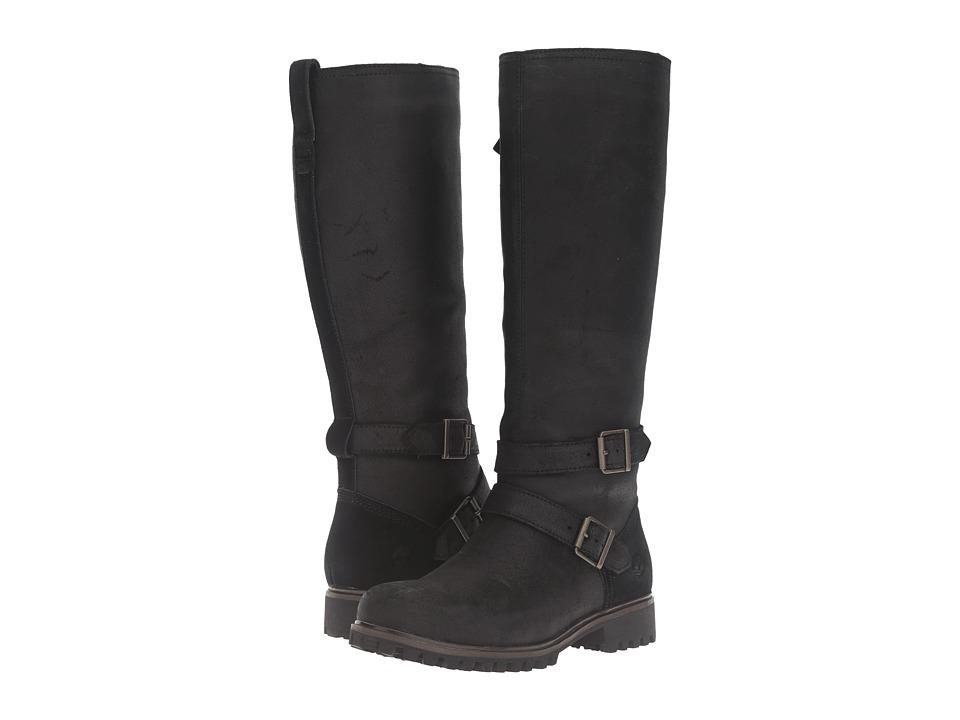 Timberland - Wheelwright Tall Medium Shaft Waterproof Boot (Black Suede) Women