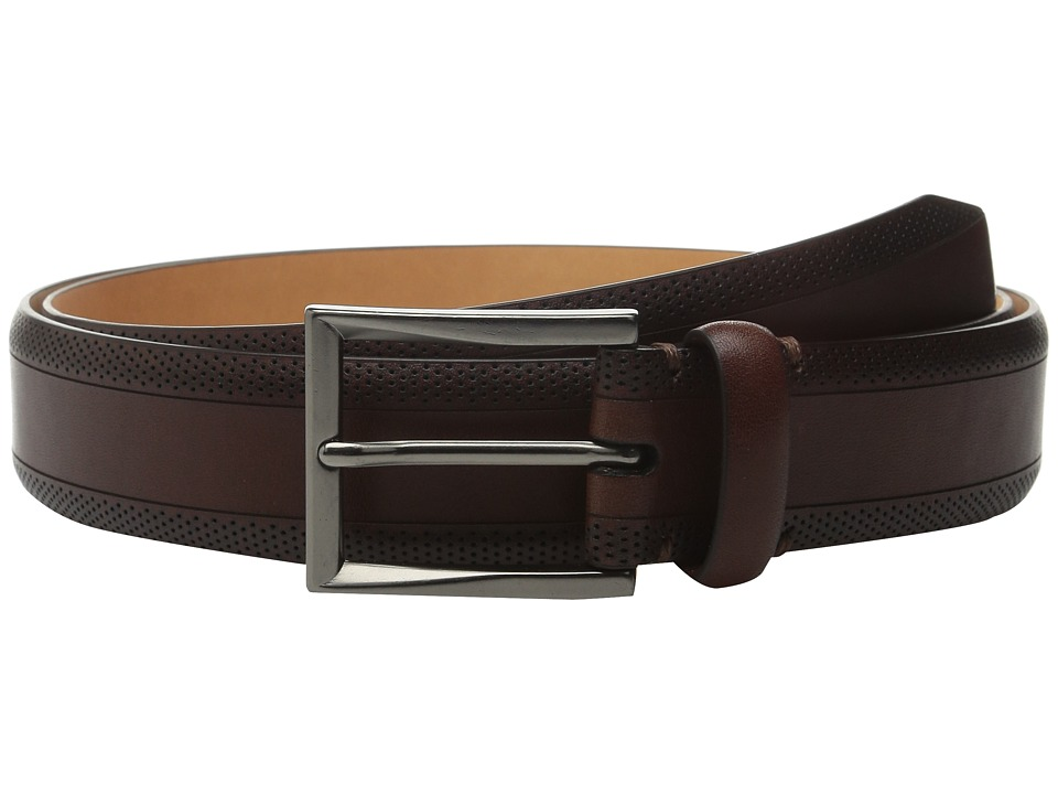 Tommy Bahama - Vegetable Tanned Leather w/ Perforated Edges (Brown) Men