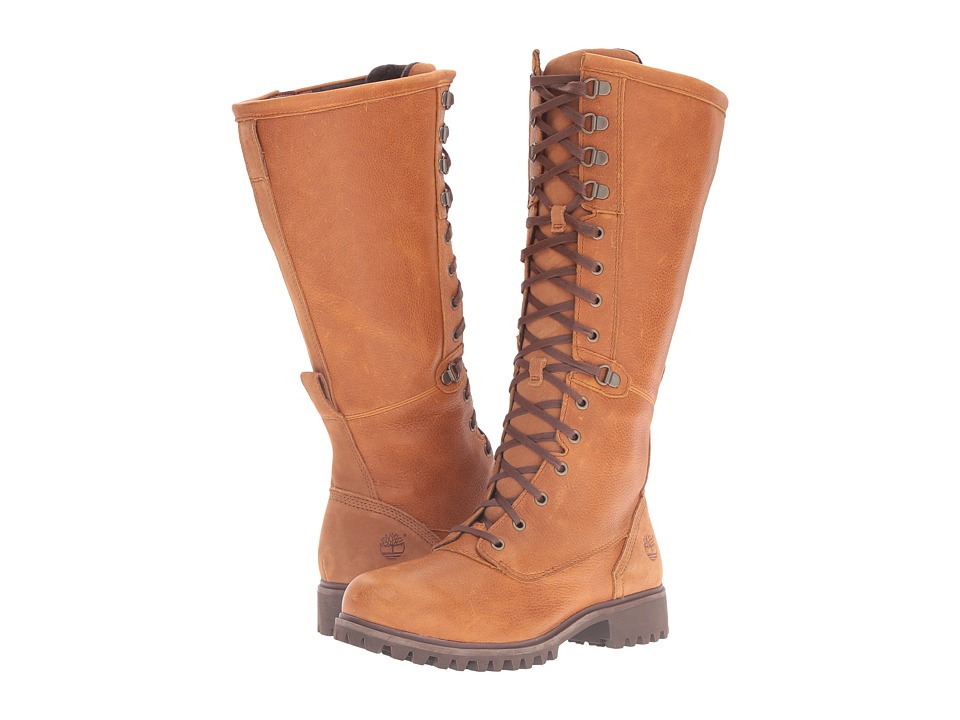 Timberland - Wheelwright Tall Lace Waterproof Boot (Burnt Orange Full Grain) Women