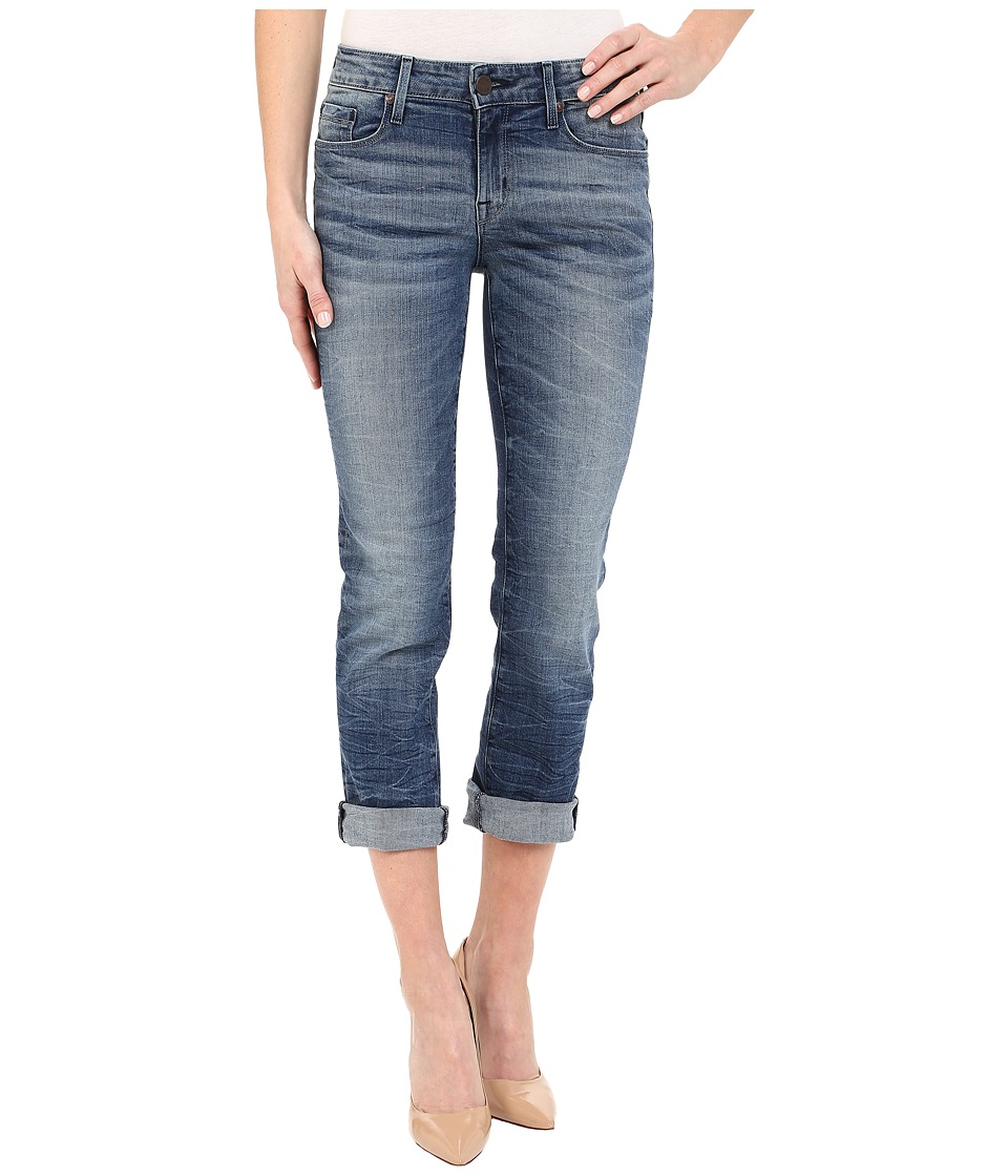 Parker Smith Courtney Cuffed Crop Jeans in Indigo Storm Indigo Storm Womens Jeans