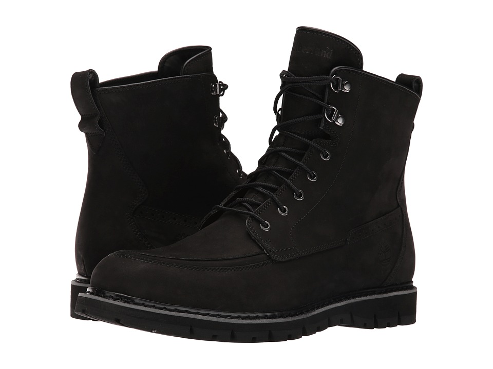 Timberland Britton Hill Waterproof Moc Toe Boot (Black Nubuck) Men