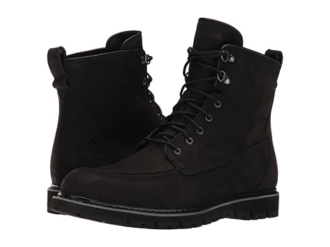 Timberland Britton Hill Waterproof Moc Toe Boot - Black Nubuck
