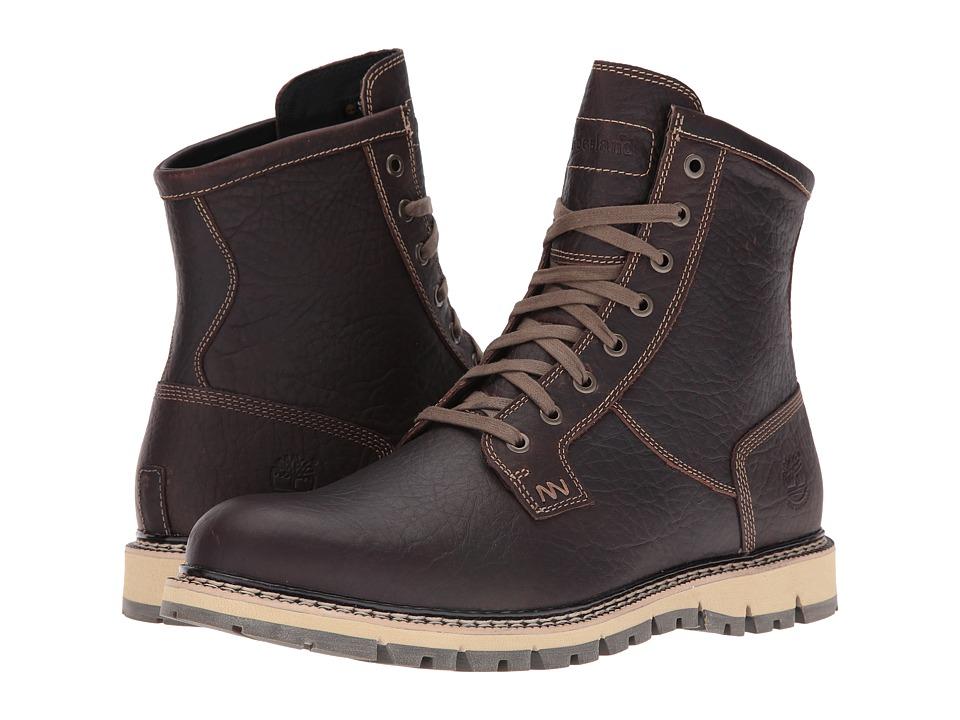 Timberland - Britton Hill Waterproof Plain Toe Boot (Dark Brown Full Grain) Men