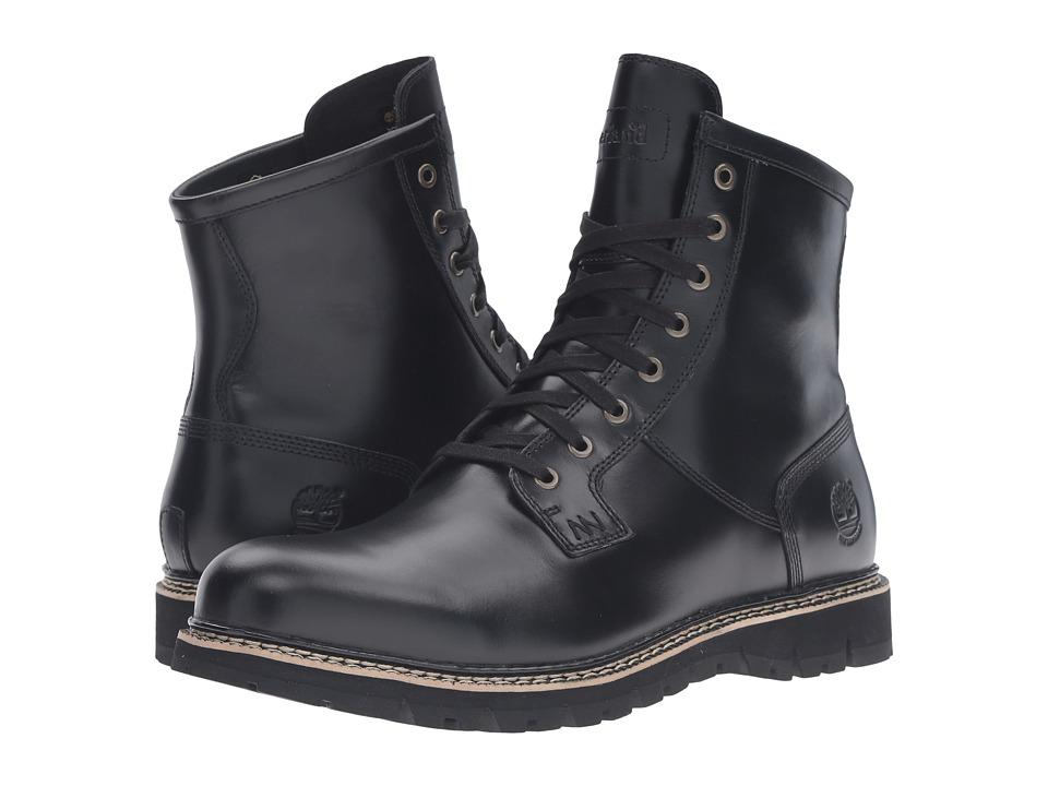 Timberland - Britton Hill Waterproof Plain Toe Boot (Black Full Grain) Men