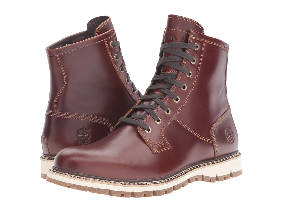Timberland - Britton Hill Waterproof Plain Toe Boot (Medium Brown Full Grain) Men