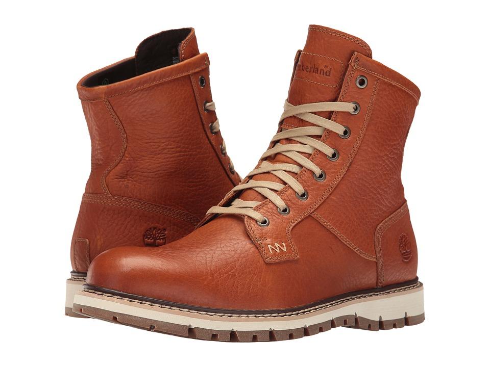 Timberland - Britton Hill Waterproof Plain Toe Boot (Burnt Orange Full Grain) Men