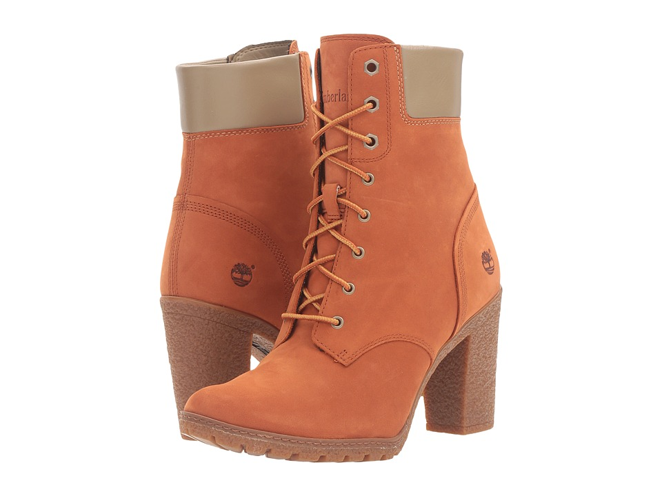 Timberland - Earthkeepers Glancy 6 Boot (Burnt Orange Nubuck) Women