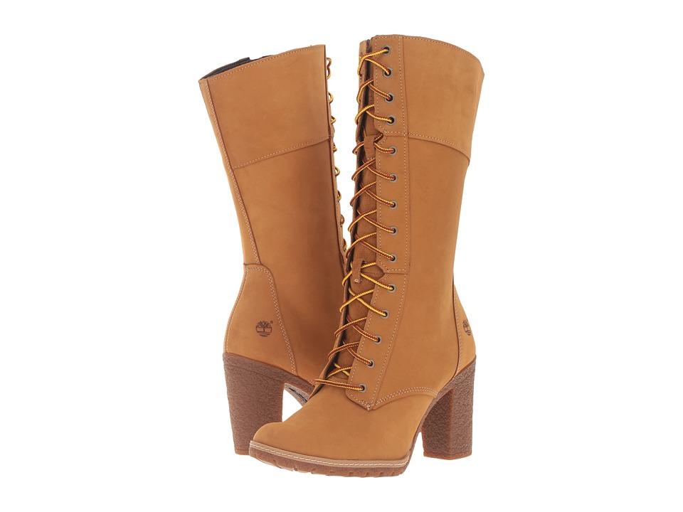 Timberland - Glancy 10 Lace-Up Boot (Wheat Nubuck) Women