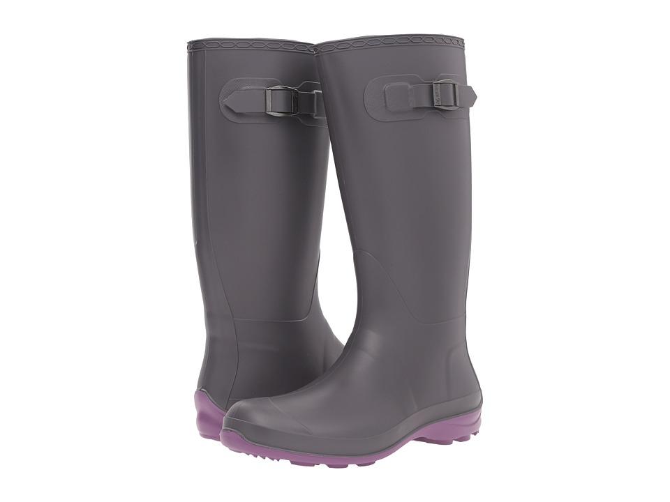 Kamik Olivia (Charcoal/Purple) Women's Rain Boots