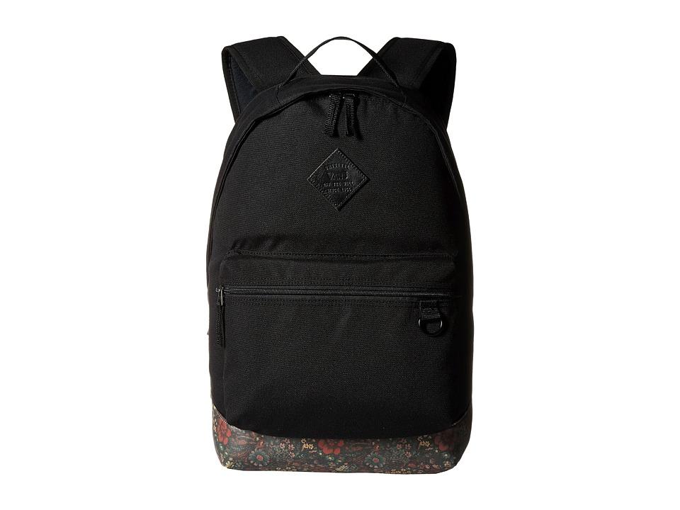 Vans - Tiburon Backpack (Black/Floral Leather) Backpack Bags