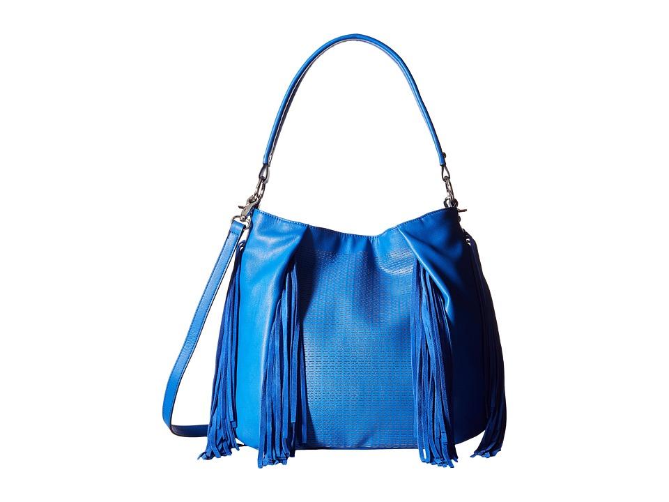 French Connection Bailey Hobo Empire Blue Hobo Handbags