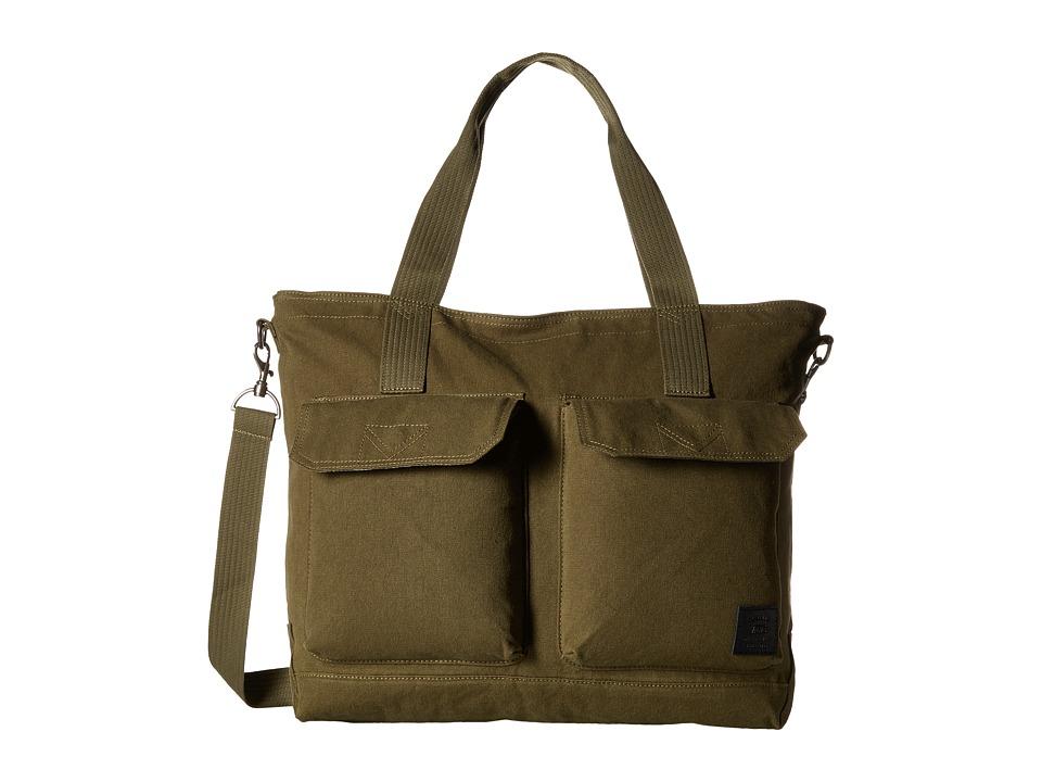 Vans - Bunker Down Tote (Ivy Green) Tote Handbags