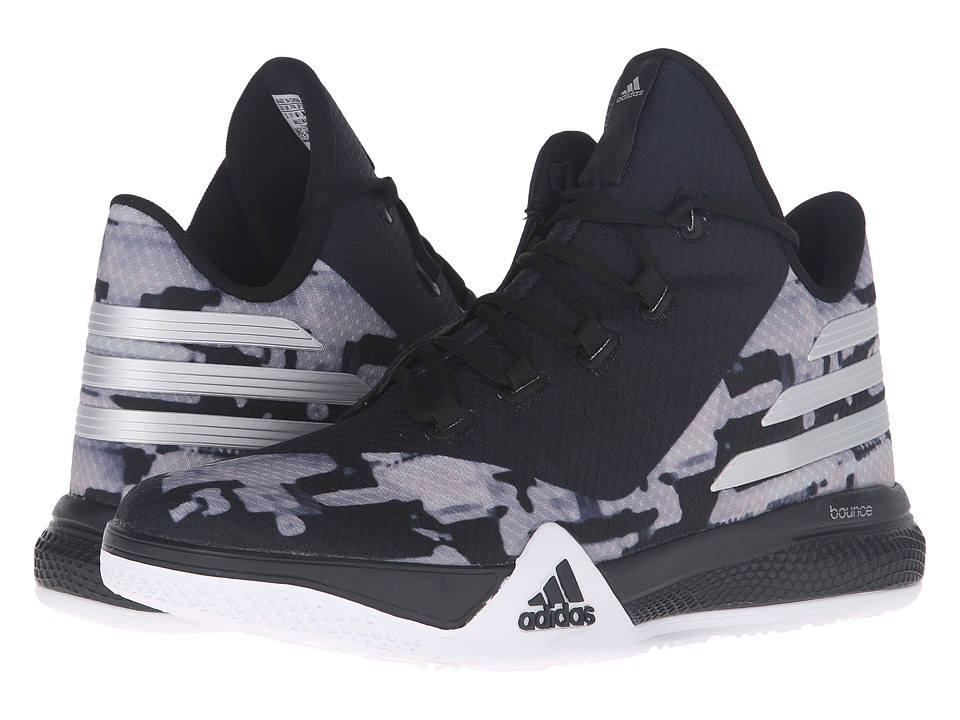 adidas - Light 'Em Up 2 (Black/Silver Metallic/Dark Grey) Mens Basketball Shoes