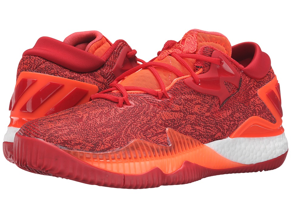adidas - Crazylight Boost Low (Solar Red/Scarlet) Mens Basketball Shoes