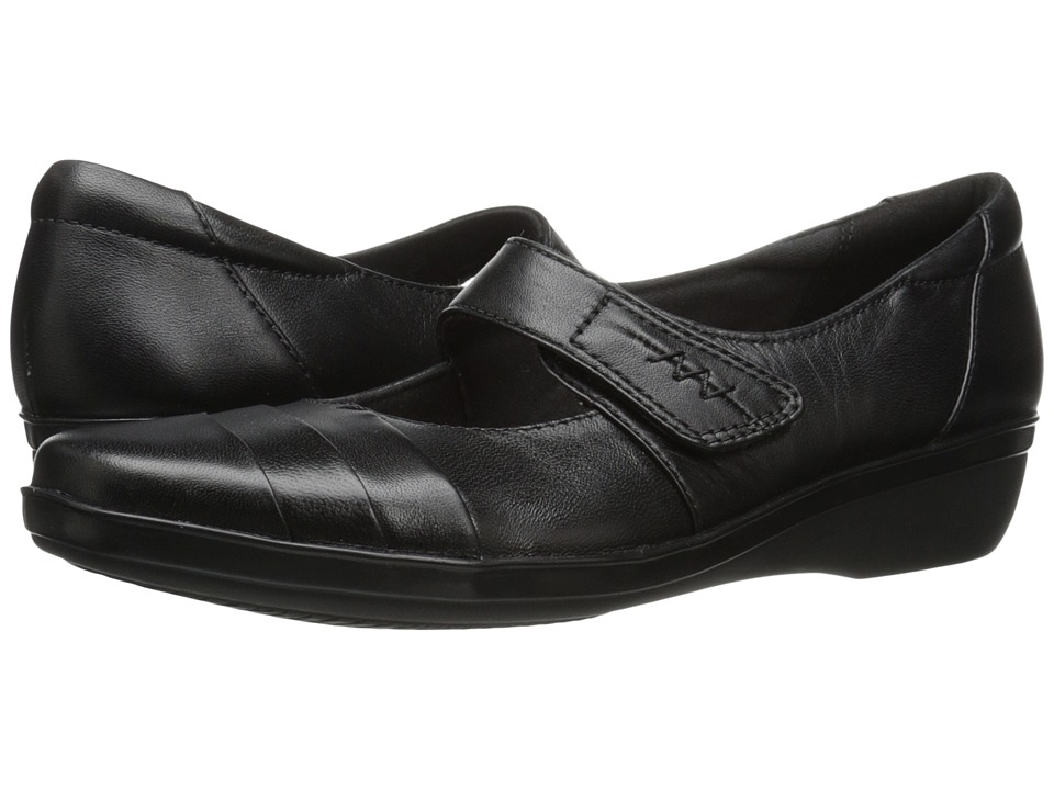 Clarks - Everlay Kennon (Black Leather) Womens  Shoes