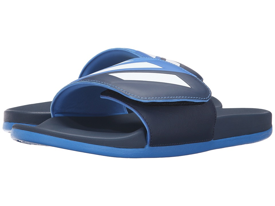 adidas Adilette Cloudfoam Ultra Adjustable (Collegiate Navy/White/Blue) Men