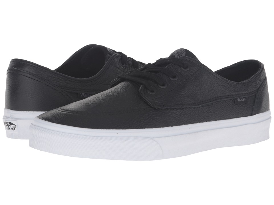 Vans Brigata ((Premium Leather) Black/True White) Skate Shoes